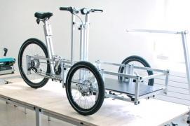 Dreirad zwei hinterräder frontlader cargo dreirad frontlader